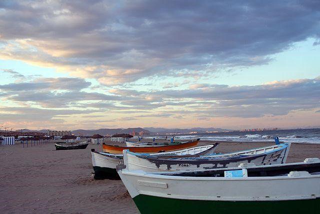 Playa de cabanyal de Valencia