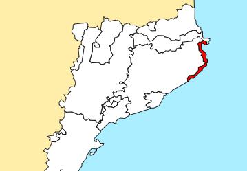 mapa de rutas por la costa brava
