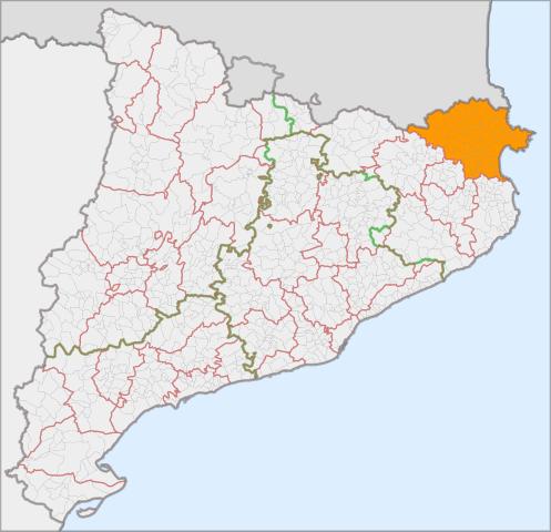mapa de rutas del alt emporda