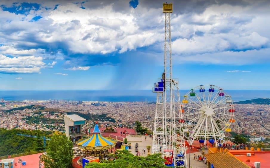 Parc d'atraccions del tibidabo de Barcelona