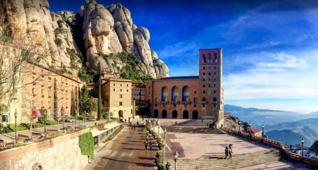vistas desde el monestir de montserrat